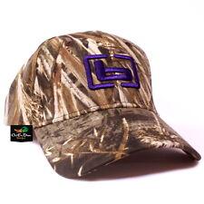 "NEW WOMENS BANDED GEAR HUNTING CAP HAT MAX-5 CAMO W/ PURPLE ""b"" LOGO ADJUSTABLE"