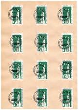 DDR,566+568 Gedenkstätte, Radfahrt 1957, je auf Unterlagen mit SST