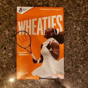 Serena Williams Wheaties Cereal Full Box 15.6oz Limited Edition Box