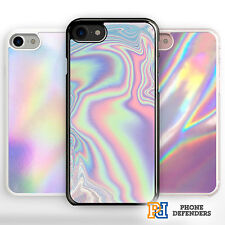 PASTEL METALLIC HOLOGRAPHIC STYLE PRINT Oil Gift Phone Case Cover For iPhone