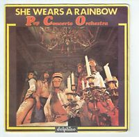 "POP CONCERTO ORCHESTRA Vinyle 45T 7"" SHE WEARS A RAINBOW -..LOVE -DELPHINE 64011"