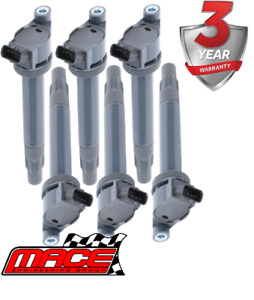 6 X MACE STANDARD REPLACEMENT IGNITION COIL FOR LEXUS RX400H MHU38R 3MZFE 3.3 V6