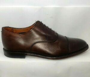 Allen Edmonds 5019 Exchange Place Oxford Cap Toe Brown Burnished Calf Size 10 D