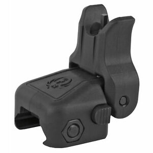 Ruger Rapid Deploy Front Sight Picatinny Rail Mounted Folding Push Black 90414