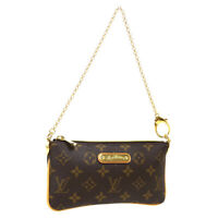 LOUIS VUITTON POCHETTE MILLA MM HAND BAG POUCH VI4008 MONOGRAM M60094 A54439
