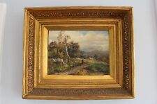 James Callowhill Signed Original Landscape Oil Painting 1889 England