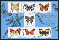 Angola 653a sheet,MNH.Michel Bl.6. Butterflies 1982