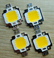 4 Stk. High Power 10 W LED Chip ww, 12V, Neu,Hochleistungs,900 Lm,COB,Aquarium