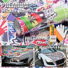 "*60""x60"" JDM Eat Sleep Anime Stickerbomb Cartoon Car Vinyl sticker wrap Decal"