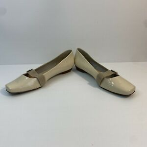 Diana Ferrari Nude Flat Mary Jane Leather Supersoft Shoes Size 12
