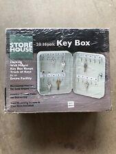 NEW 20 Hook Key box Home Business Steel Wall Mount Key Lock Case Box Lockbox
