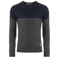 Soulcal Waffle Crew Jumper marine gris Anthracite Small TD091 DD 08