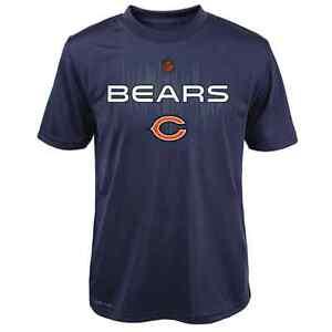 "Chicago Bears YOUTH BOYS Shirt DRI-TEK ""Echo"" T-Shirt - Navy"