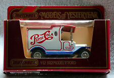 Matchbox Models of Yesteryear, Y-12: 1912 Model 'T' Ford Van; Pepsi Cola, New