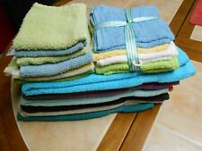 Lot Of(27) 19 Cotton Wash Cloths 12 used & 7 Nwt & 8 Pre-Owned Hand Towels
