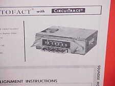 1965 CHRYSLER 300-L NEWPORT CONVERTIBLE NEW YORKER AM RADIO SERVICE MANUAL 65 1