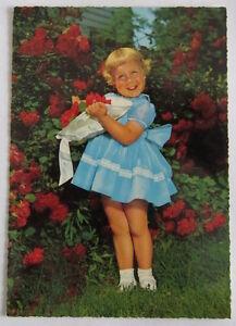 Cartolina d'epoca -  Bambina -  postcard - tarjeta -