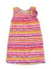 KELLY'S KIDS Tye Dye Stripe Tank Dress Girl Size 2 Regular Pink & Purple