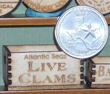 Dollhouse Miniature Atlantic Seas Live Clams Crate 1:12 Market / Store / Grocery