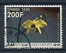 COMORES - 1977, timbre TAXE n° 16, FLEURS, VANILLE, oblitéré