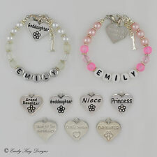 Baby Girl Little Sister 1st 2nd 3rd 4th 5th Birthday Charm Personalised Bracelet