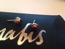 Amabis Hand Crafted 925 Silver Ruby Gemstone Earrings new in box