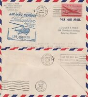 US 1948 HELICOPTER FIRST FLIGHT COVER AM 84  LOS ANGELES TO ORANGE