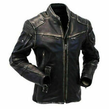 Motorcycle Fashion Leather Jacket Cafe Racer Biker Rider Fashion Jacket