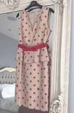 NEXT Polka Dot Tailored Occasion Dress UK 6