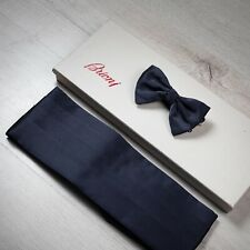 NWT $450 BRIONI Bow Tie And Cummerbund Set Purple 100% Silk Made In Italy
