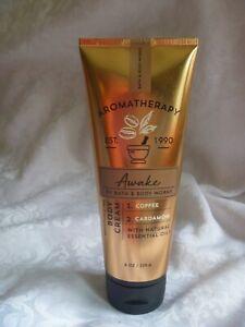 Bath & Body Works Aromatherapy Awake Coffee Cardamom Cream 8 oz NEW