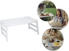 Tavolino Vassoio da Letto Pieghevole Porta Colazione Notebook Lettura Pc Bianco