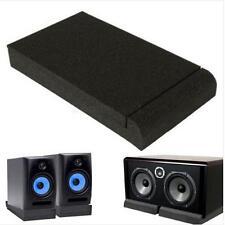 """Black Isolator Sponge Pads for 5"""" Monitors Foam Speaker Isolation Studio O"""
