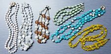 Mixed Lot of 6 Vintage Layered Multi-strand Beaded Necklaces