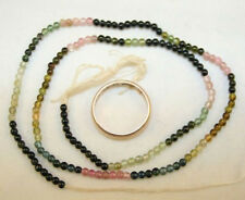 MULTICOLOR WATERMELON TOURMALINE GEMSTONE 2MM ROUND BEADS STRAND 15 IN LONG TuA