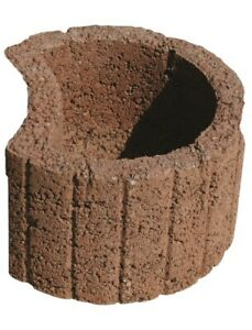 30 X Pflanzringe klein Beton Braun 35 cm x 20 cm