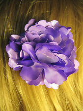 PLUM PURPLE fabric flower decorative HAIR CLIP accessory
