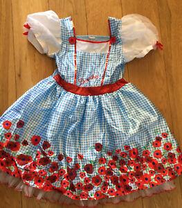 Girls Dorothy, Wizard Of Oz Fancy Dress Age 5-6