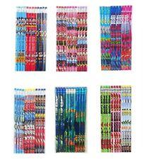 Girls Disney Cartoon Pencils School Supplies Stationary 12 pieces of your choice