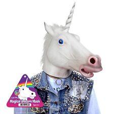 Magical Unicorn Mask Deluxe Full Face Horse Head Latex Rubber Animal Costume