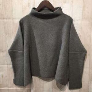DANIELA GREGIS 100% wool knit one size fits all women's Italian gray khaki#M9183
