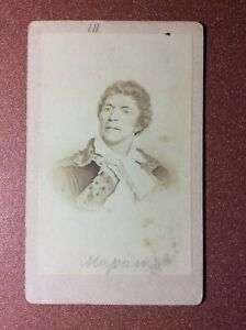OLD CDV Card 1890s Jean-Paul MARAT political figure Great french revolution