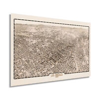 1909 Map of Los Angeles California - Vintage Los Angeles CA Wall Art Poster