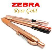 Zebra Rose Gold Pens - Full uk range Ballpoint, Gel ballpen or Quad Colour pen