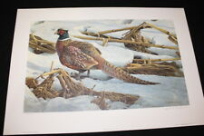 Robert Bateman 'Pheasant in Cornfield' Signed & Numbered Art Print 1983 #290/950