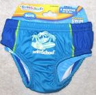 New Baby Infant Boy's Small 6 Months Blue Swim School Reusable Swim Diaper