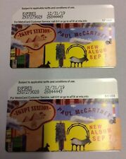 2 metrocards - Paul McCartney NYC MTA Egypt Station