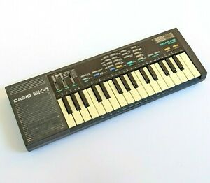 Vintage Casio SK-1 Sampling Electronic Keyboard Synthesizer - WORKS PERFECTLY!