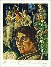 Kirnitskiy Sergey 2010 Exlibris C4 Sandro Botticelli Erotic Nude Woman 187