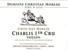 CHABLIS VAILLON PREMIER CRU CUVEE GUY MOREAU 2015 - DOMAINE CHRISTIAN MOREAU